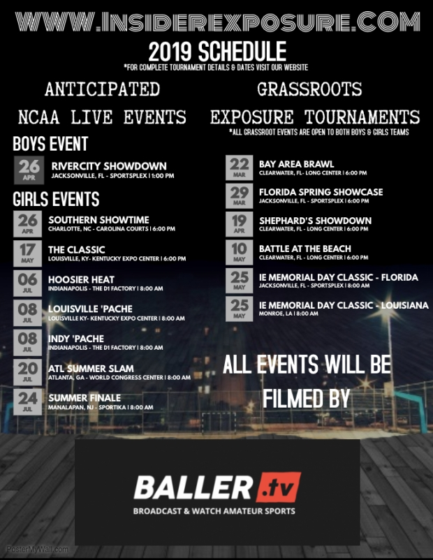 2019 IE Event Schedule
